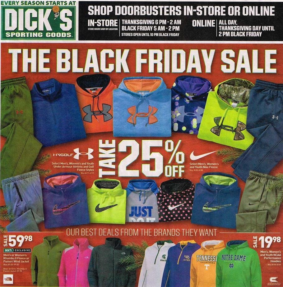Dicks Sporting Goods 2015 Black Friday Ad Page 1