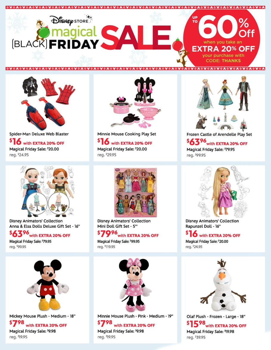 Disney Store 2015 Black Friday Ad Page 1
