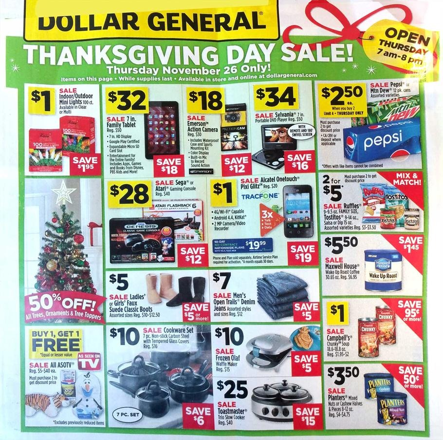 Dollar General 2015 Black Friday Ad Page 1
