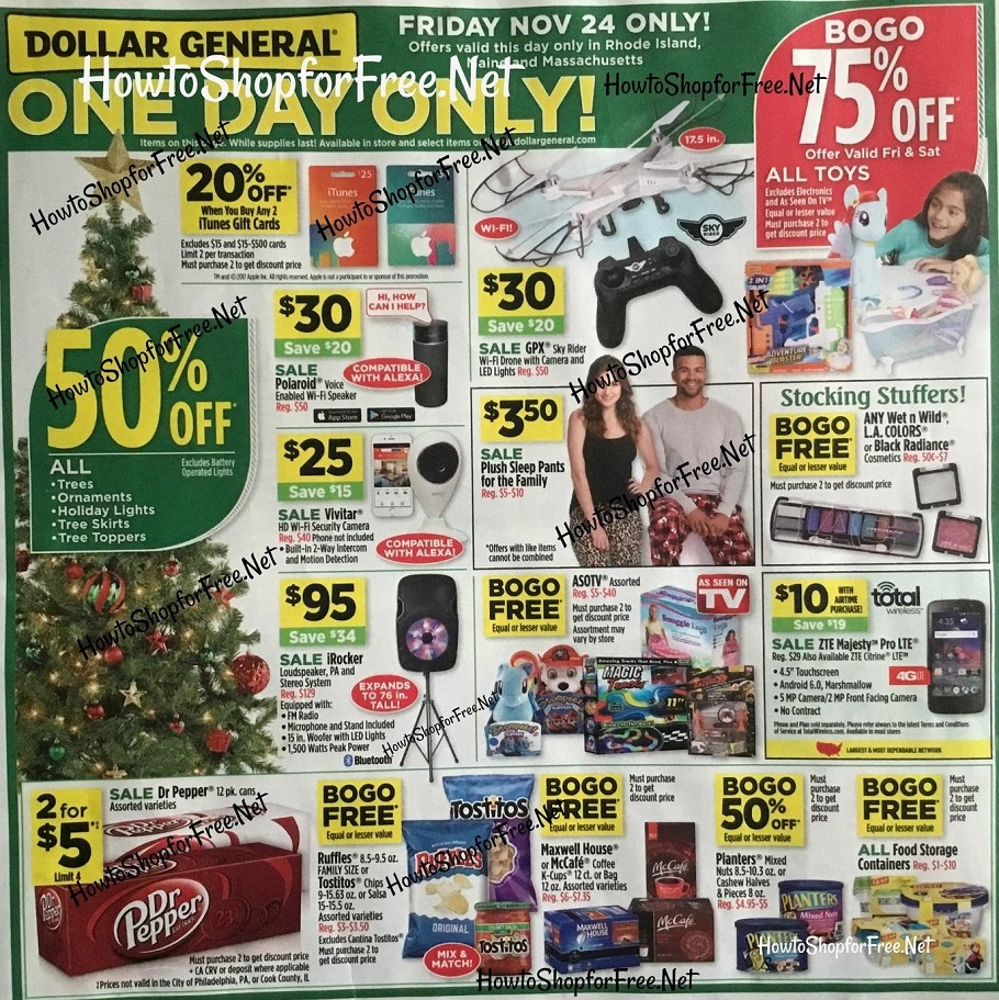 Dollar General 2017 Black Friday Ad Page 1