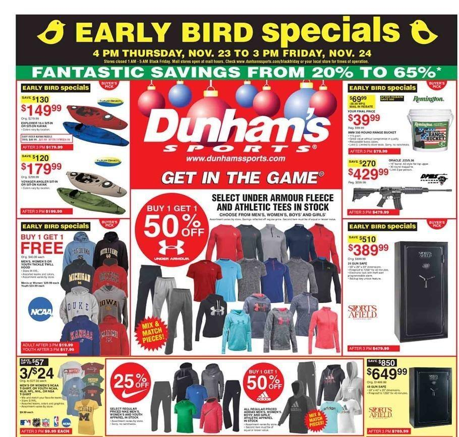 Dunham's Sports 2017 Black Friday Ad Page 1