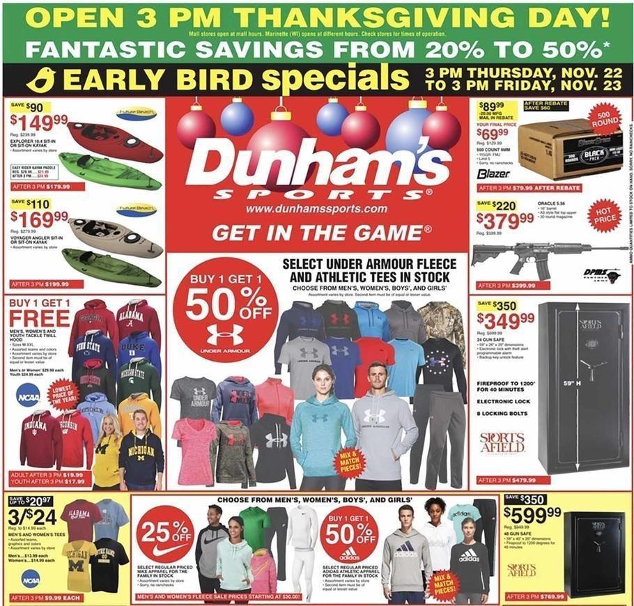 Dunham's Sports 2018 Black Friday Ad Page 1
