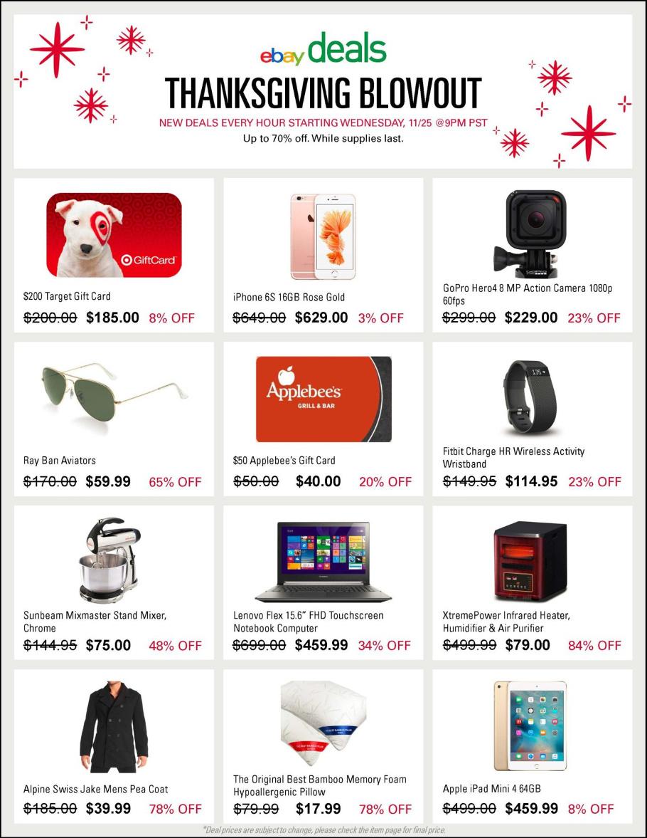 eBay 2015 Black Friday Ad Page 1
