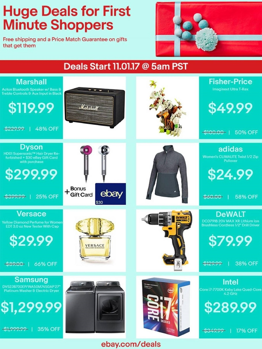 eBay 2017 Black Friday Ad Page 1