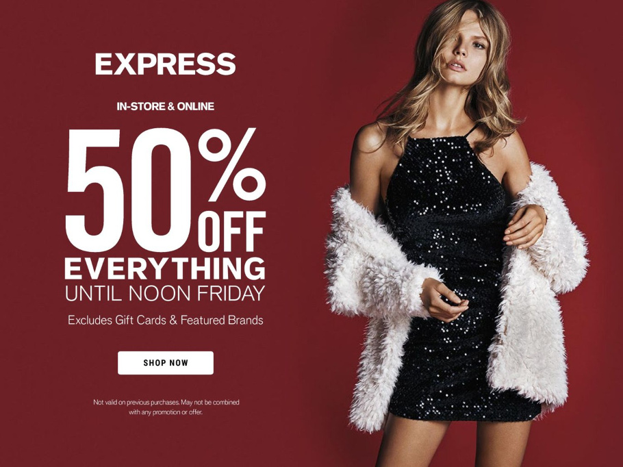 Express 2015 Black Friday Ad Page 1