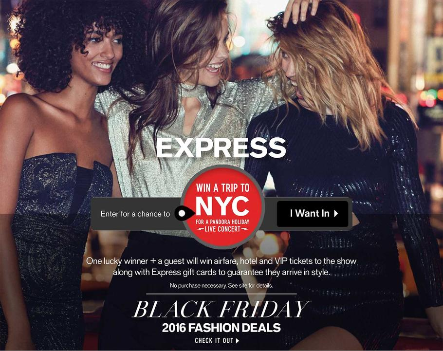 Express 2016 Black Friday Ad Page 1