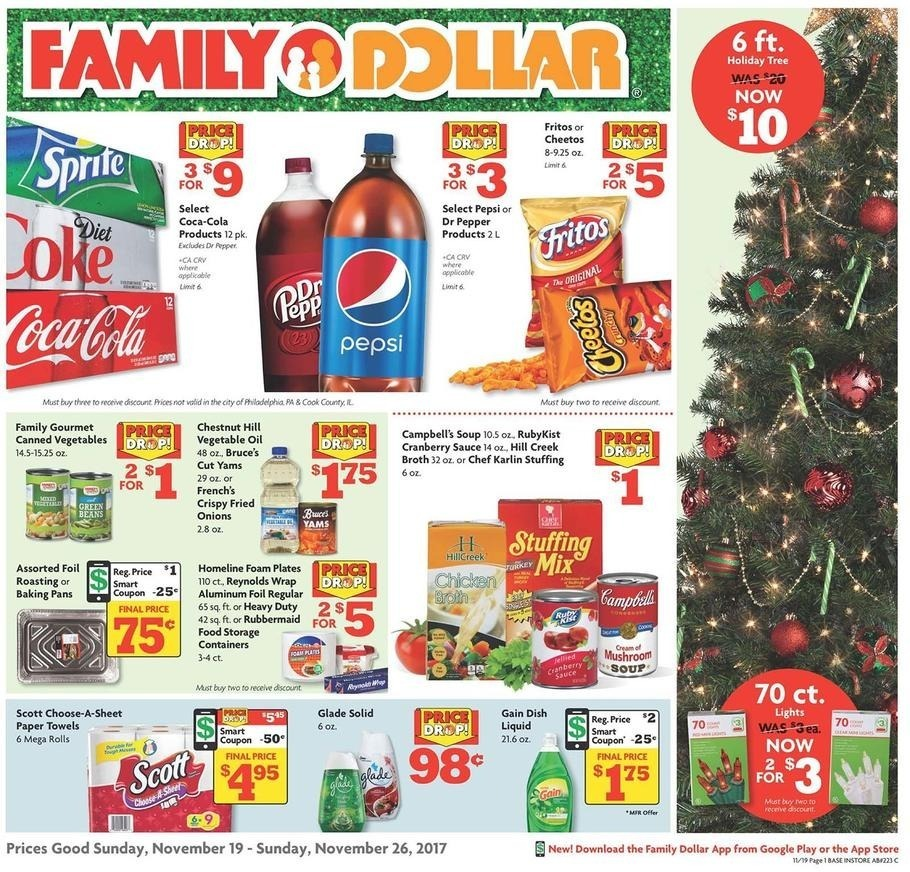 Family Dollar 2017 Black Friday Ad Page 1