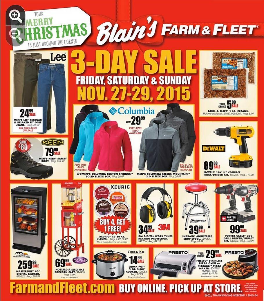 Blain's Farm and Fleet 2015 Black Friday Ad Page 1
