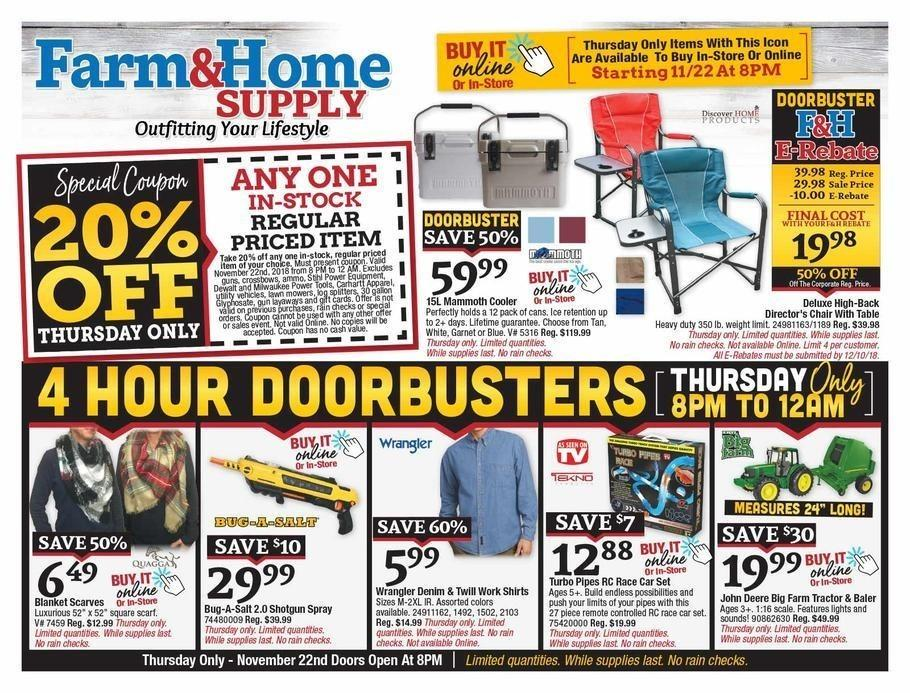 Farm & Home Supply 2018 Black Friday Ad Page 1