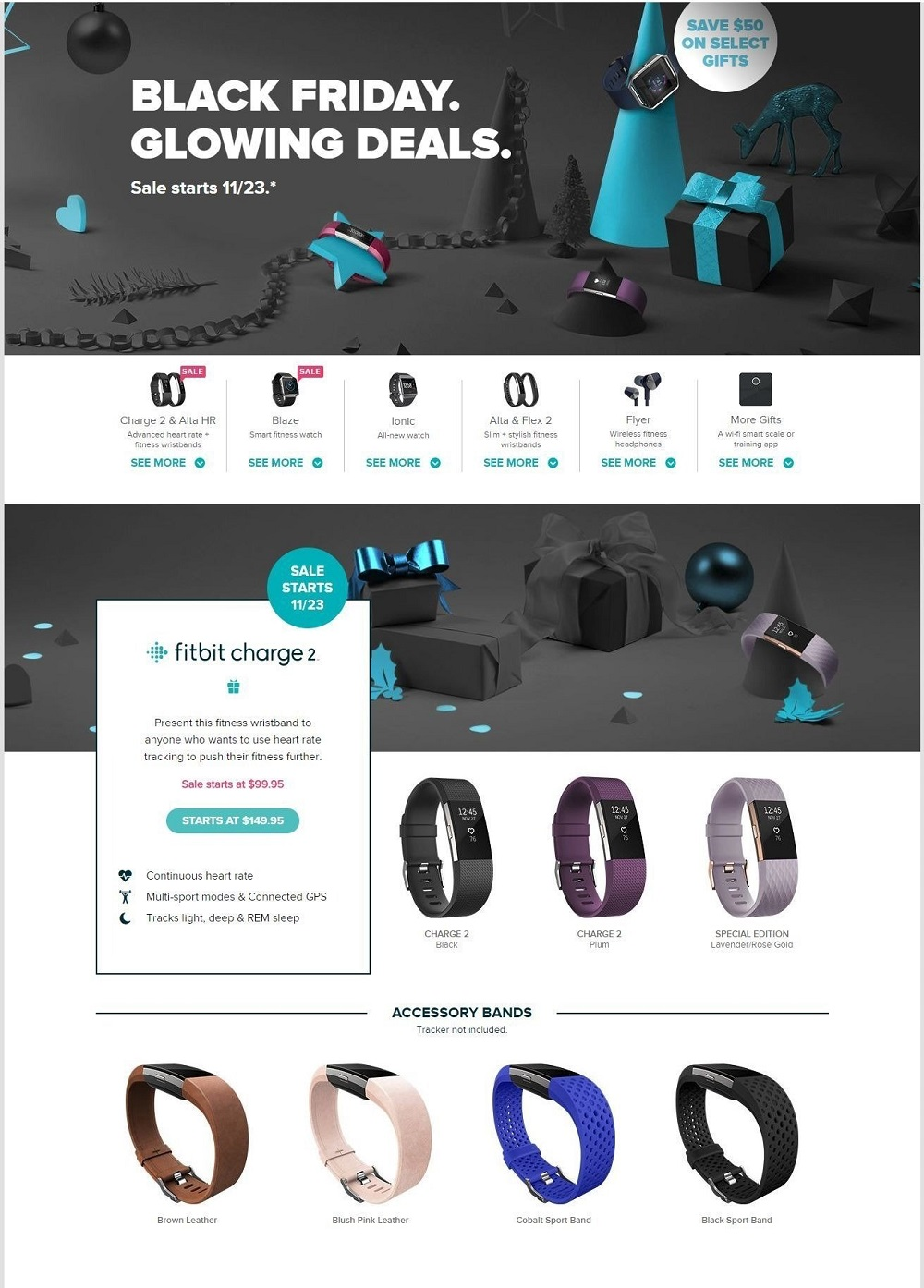 Fitbit 2017 Black Friday Ad Page 1