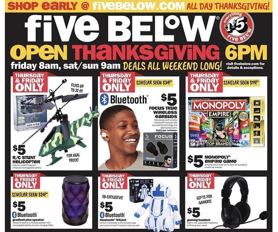 Five Below 2018 Black Friday Ad Page 1