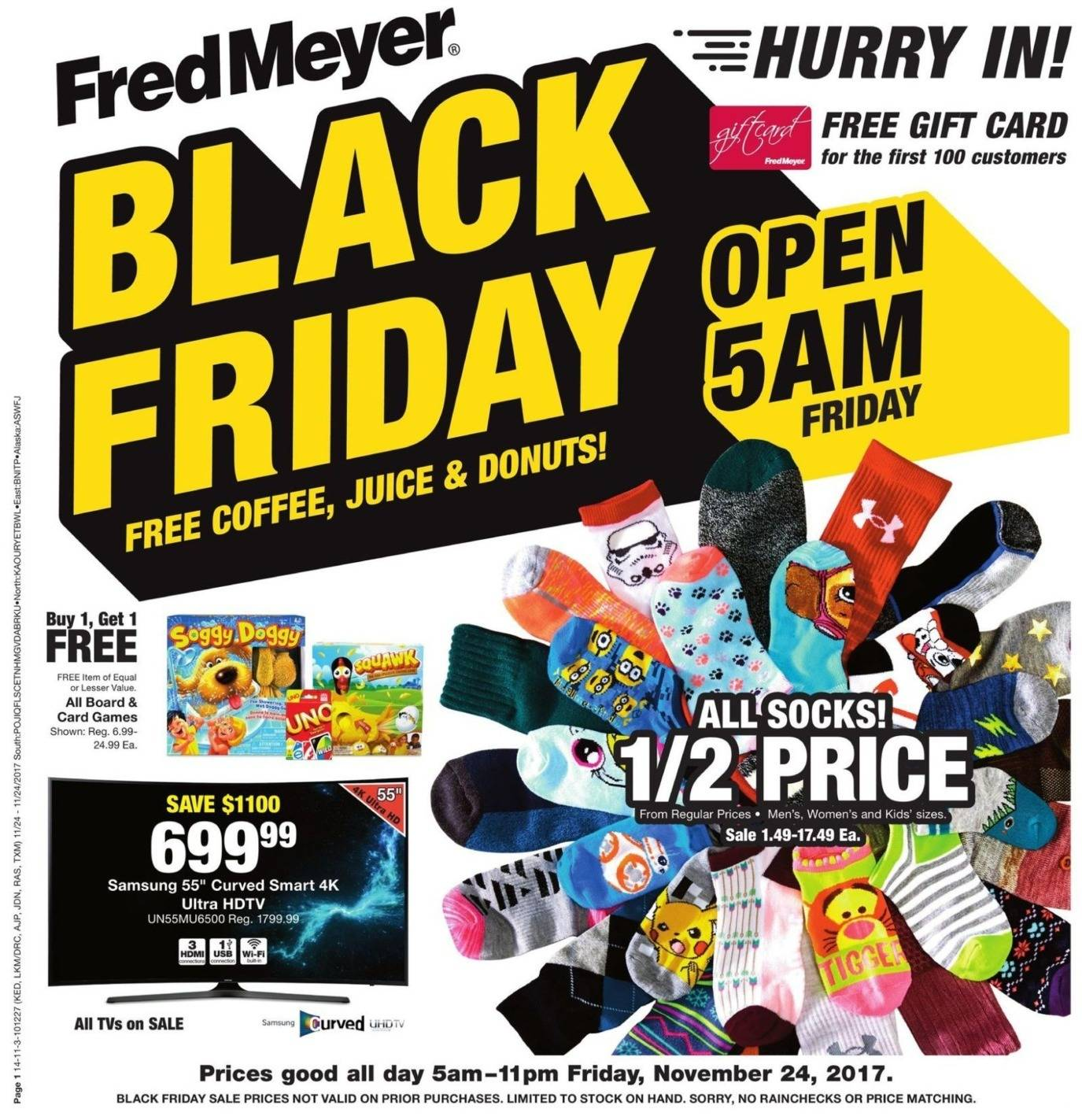 Fred Meyer 2017 Black Friday Ad Page 1