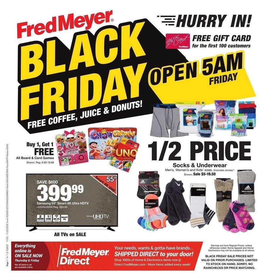 Fred Meyer 2018 Black Friday Ad Page 1