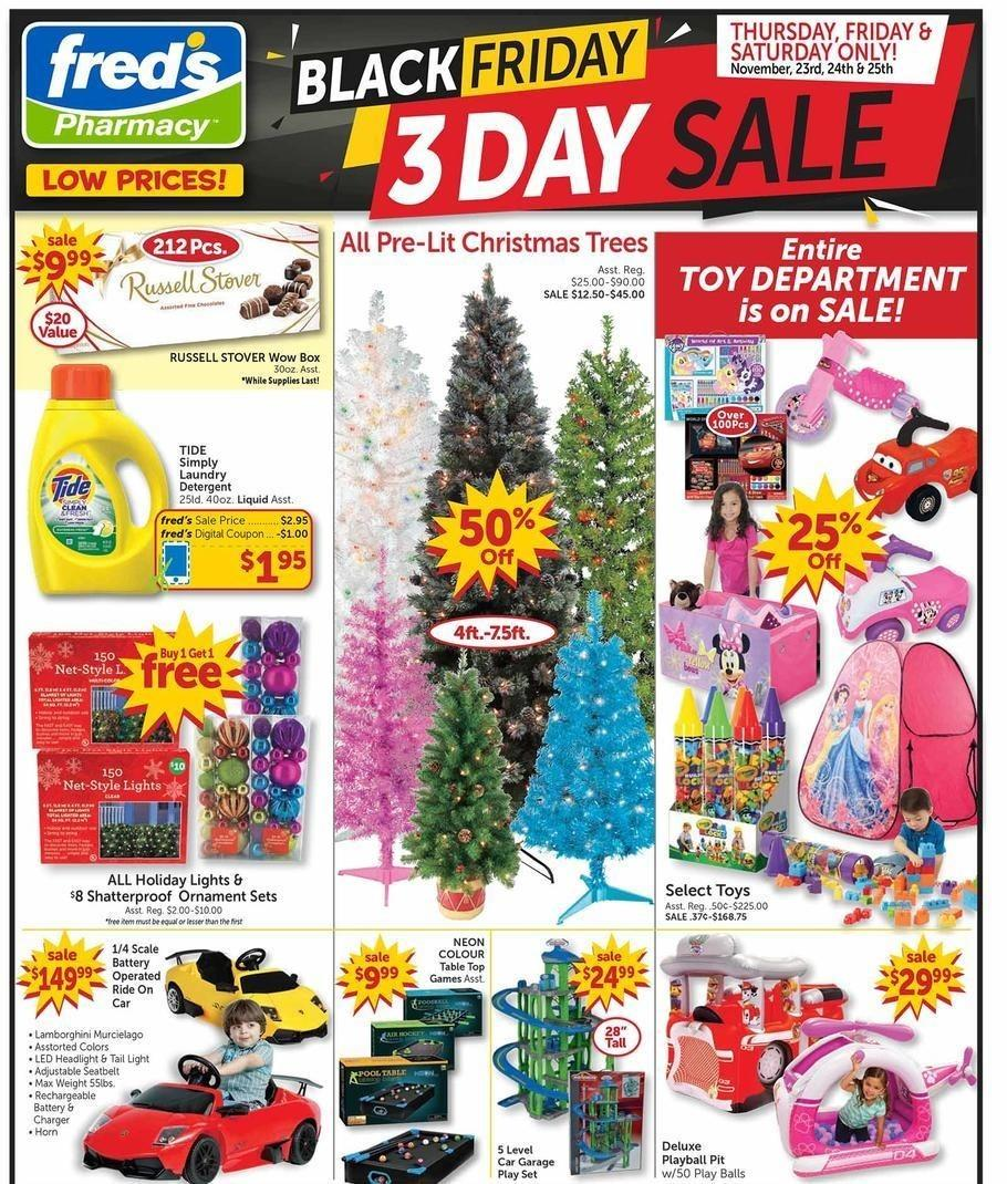 Fred's Pharmacy 2017 Black Friday Ad Page 1
