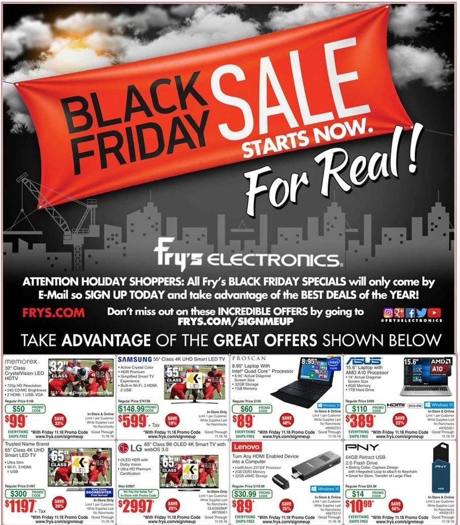Frys Electronics 2016 Black Friday Ad Page 1