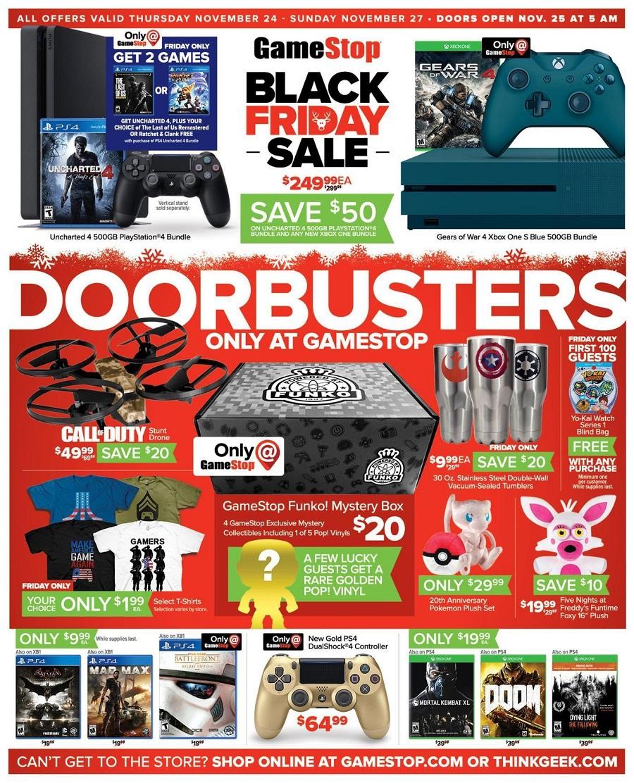 GameStop 2016 Black Friday Ad Page 1