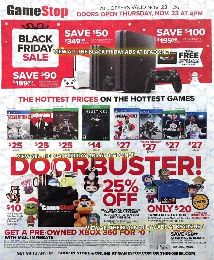 GameStop 2017 Black Friday Ad Page 1