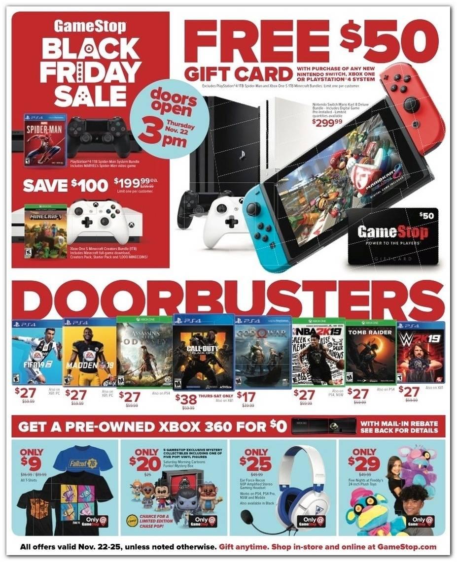 GameStop 2018 Black Friday Ad Page 1