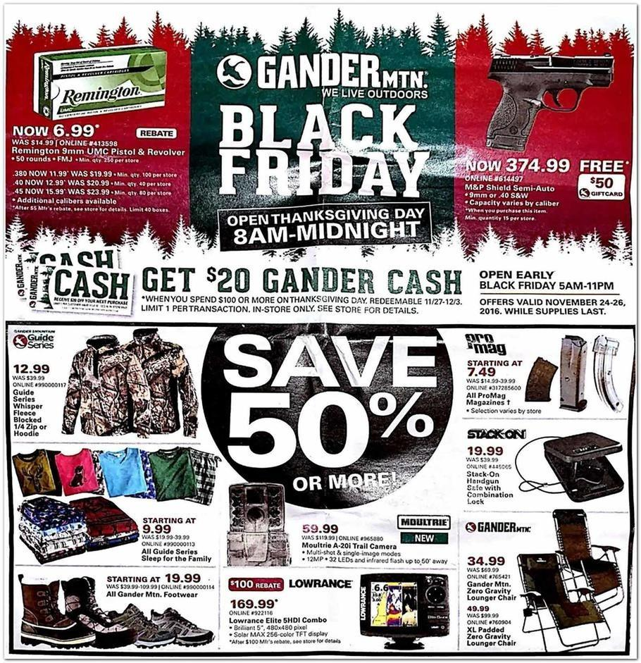Gander Mountain 2016 Black Friday Ad Page 1