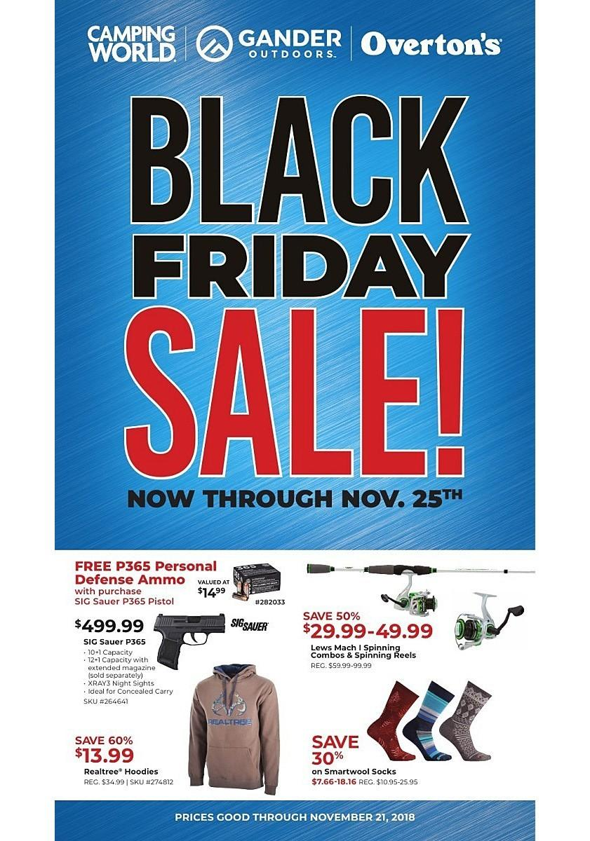 Gander Outdoors 2018 Black Friday Ad Page 1