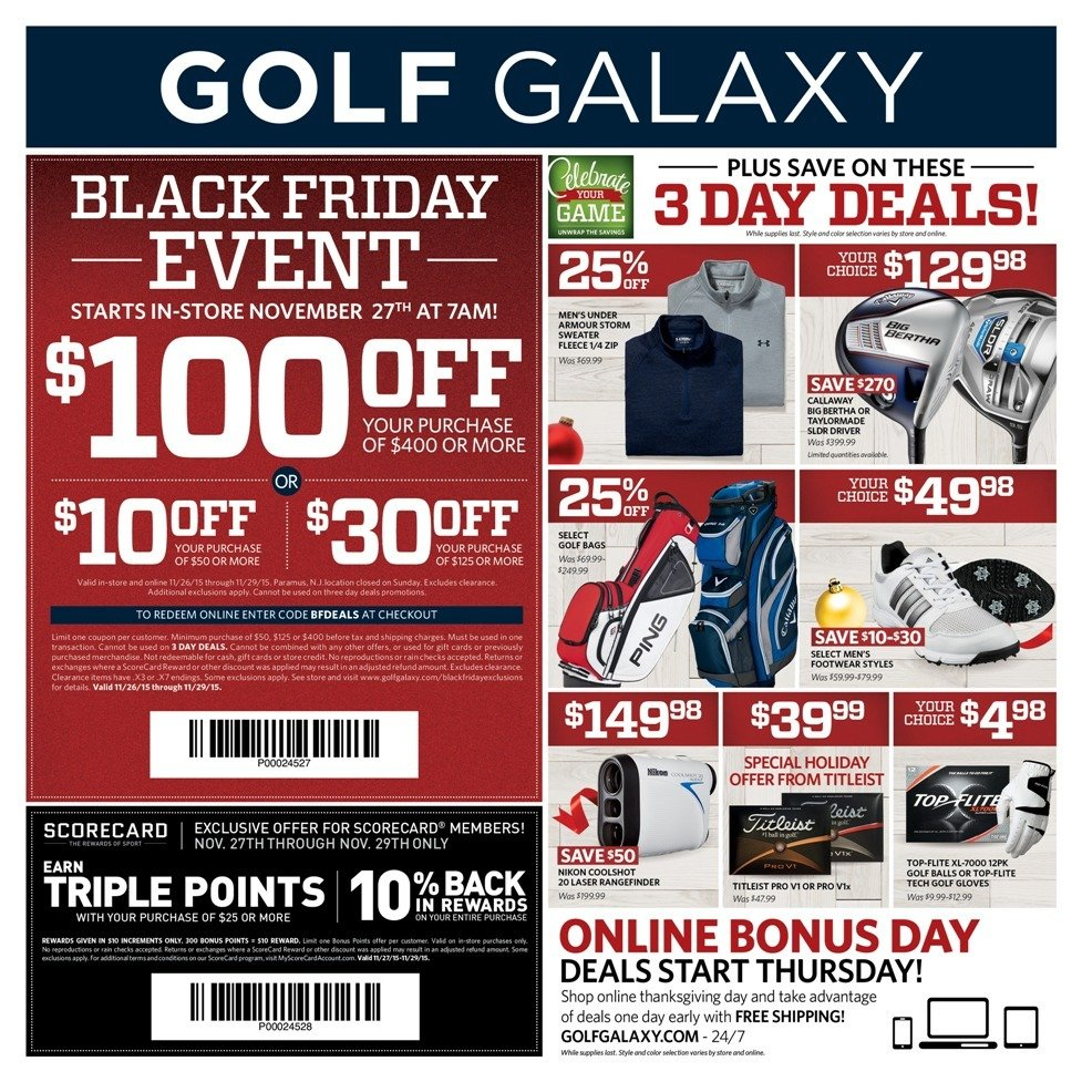 golf galaxy 2015 black friday ad frugal buzz. Black Bedroom Furniture Sets. Home Design Ideas