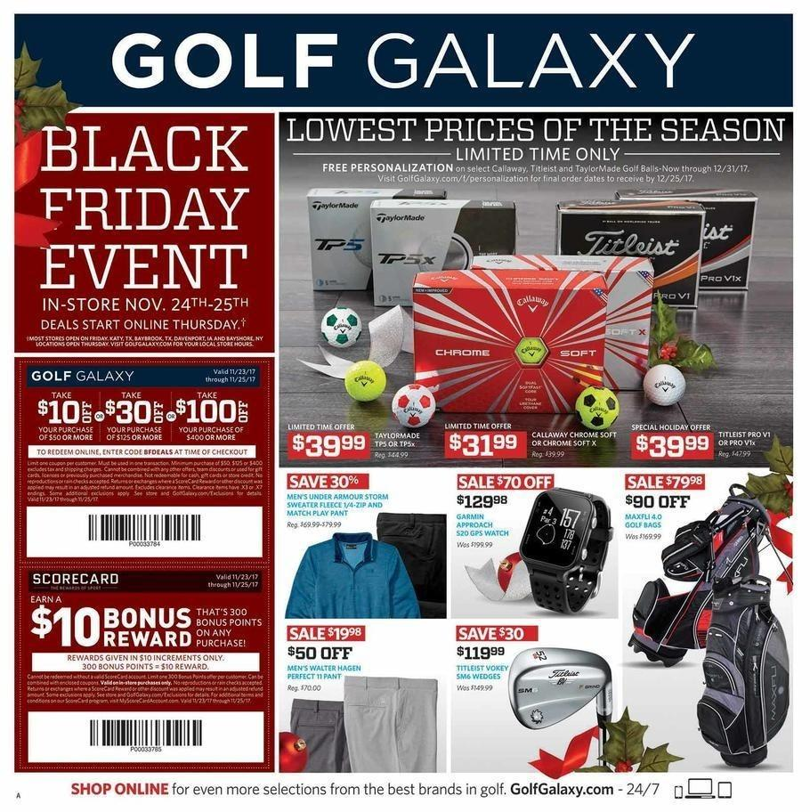 Golf Galaxy 2017 Black Friday Ad Page 1
