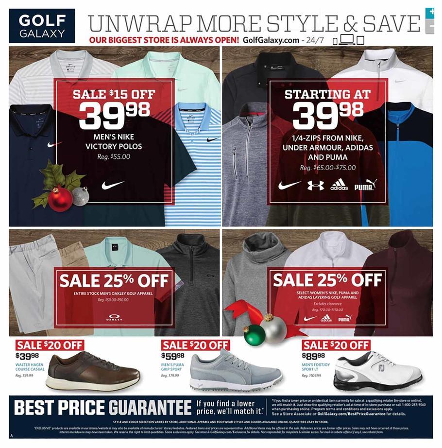 Golf Galaxy 2018 Black Friday Ad Page 1