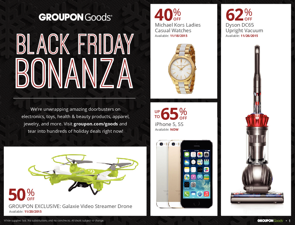 Groupon Goods 2015 Black Friday Ad Page 1