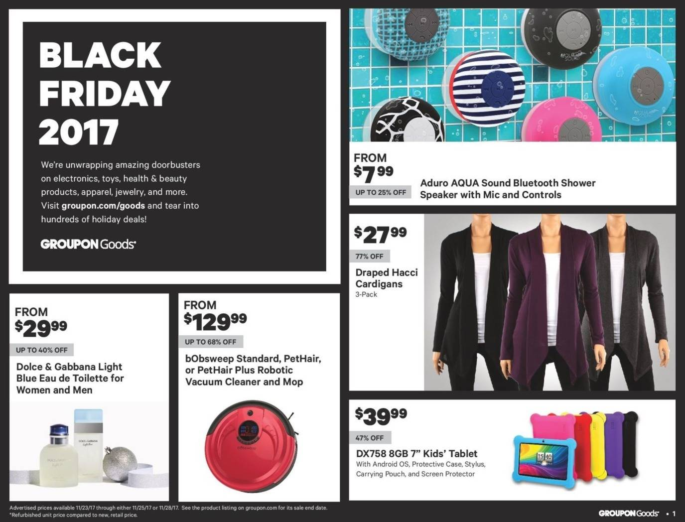 Groupon Goods 2017 Black Friday Ad Page 1