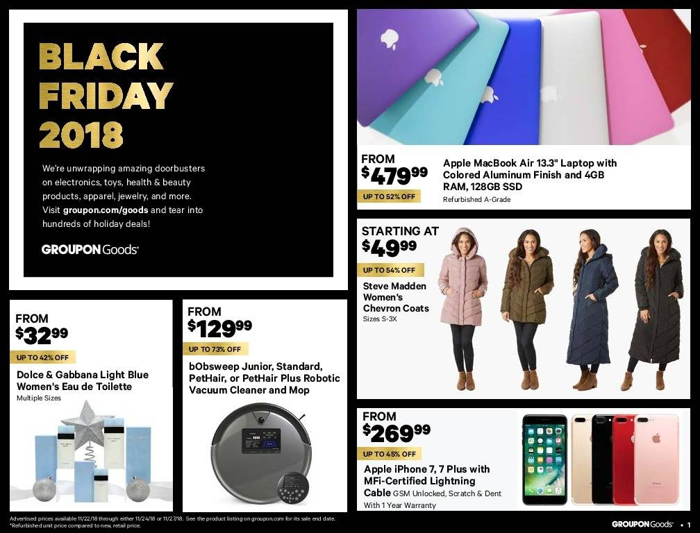 Groupon Goods 2018 Black Friday Ad Page 1
