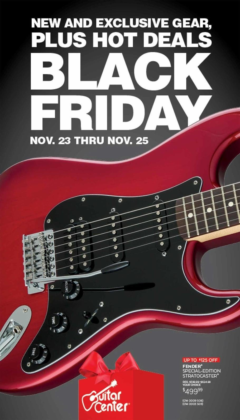 Guitar Center 2018 Black Friday Ad Page 1