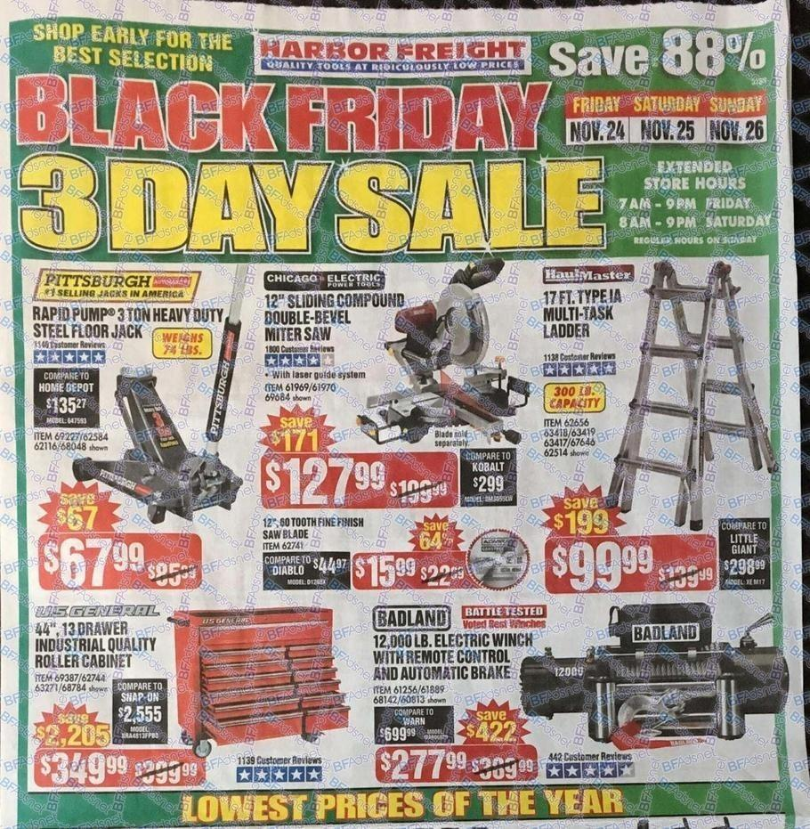 Harbor Freight Tools 2017 Black Friday Ad Page 1