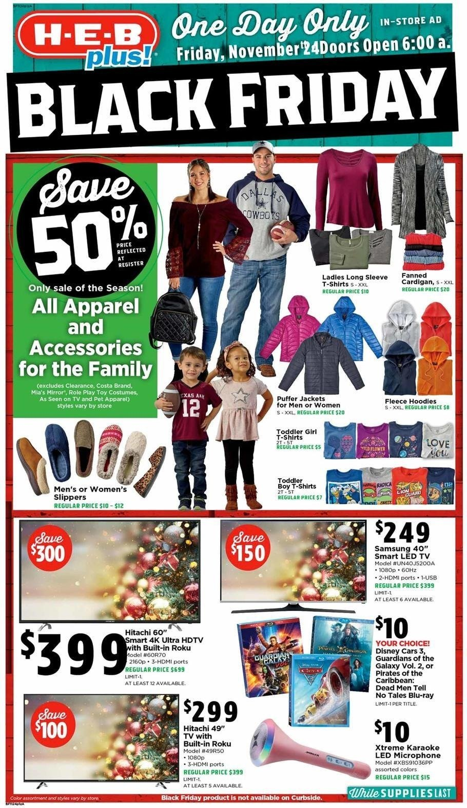 H-E-B Plus 2017 Black Friday Ad Page 1