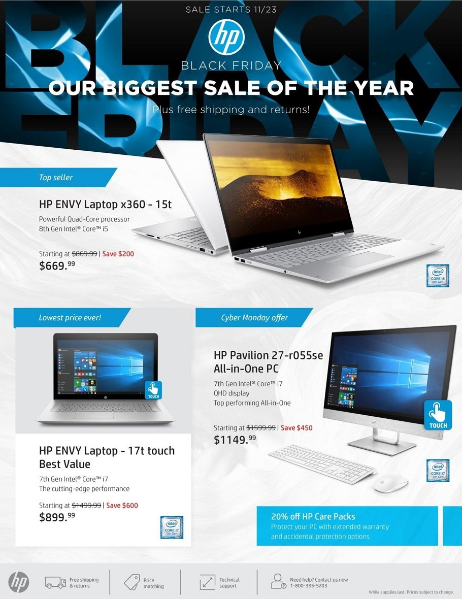 HP 2017 Black Friday Ad Page 1