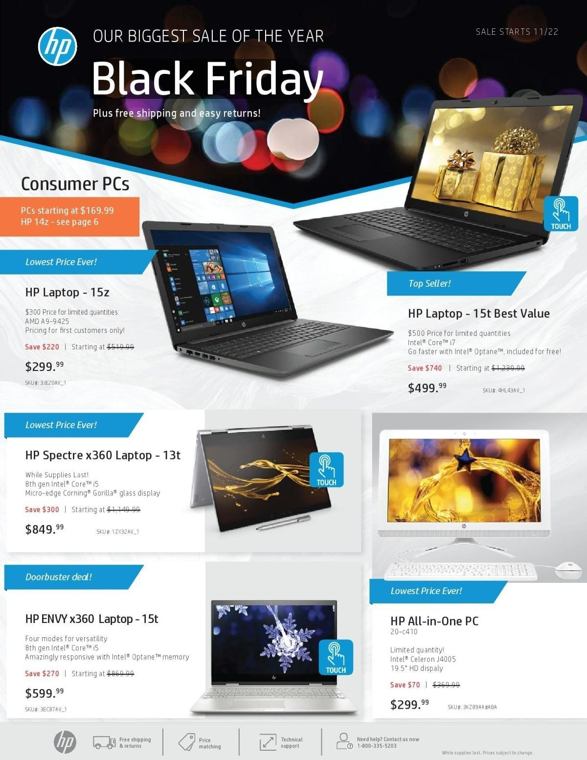 HP 2018 Black Friday Ad Page 1