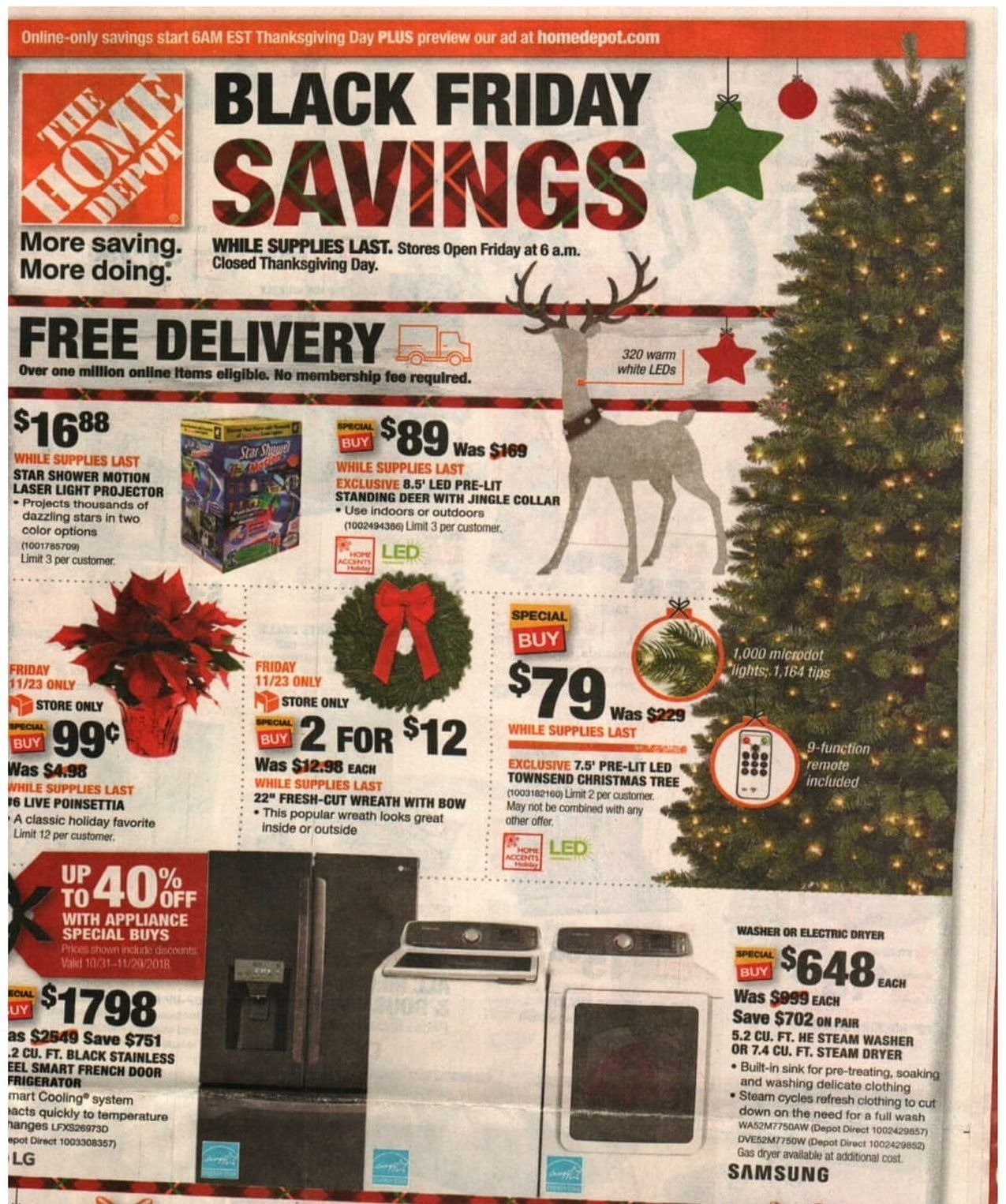 The Home Depot 2018 Black Friday Ad Page 1