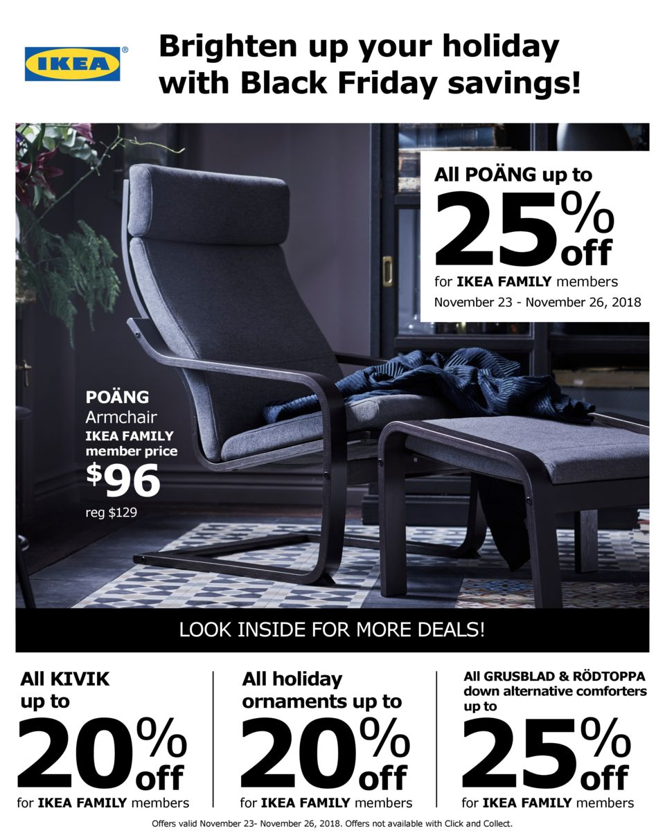 IKEA 2018 Black Friday Ad Page 1