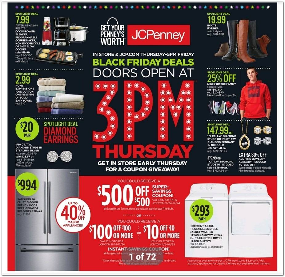 JCPenney 2016 Black Friday Ad Page 1