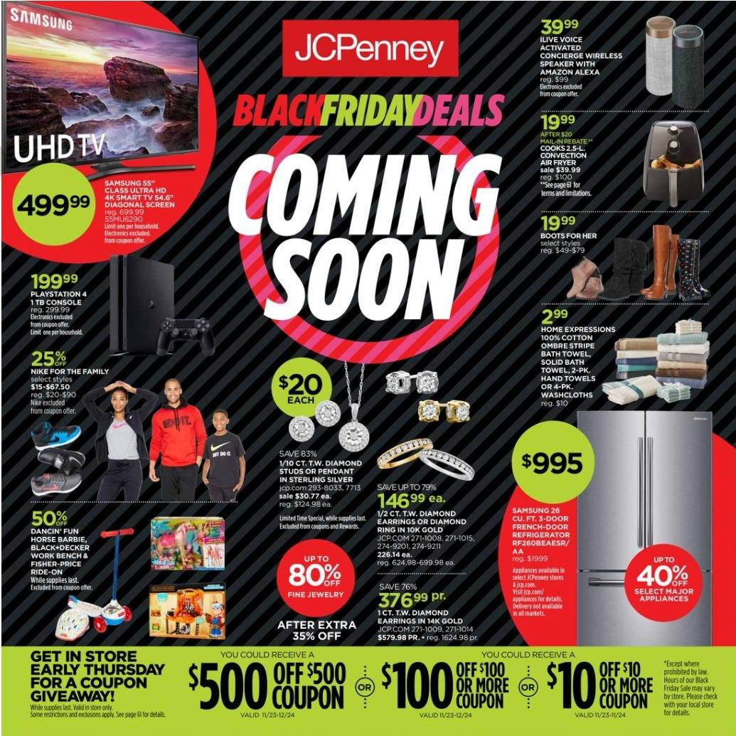 JCPenney 2017 Black Friday Ad Page 1