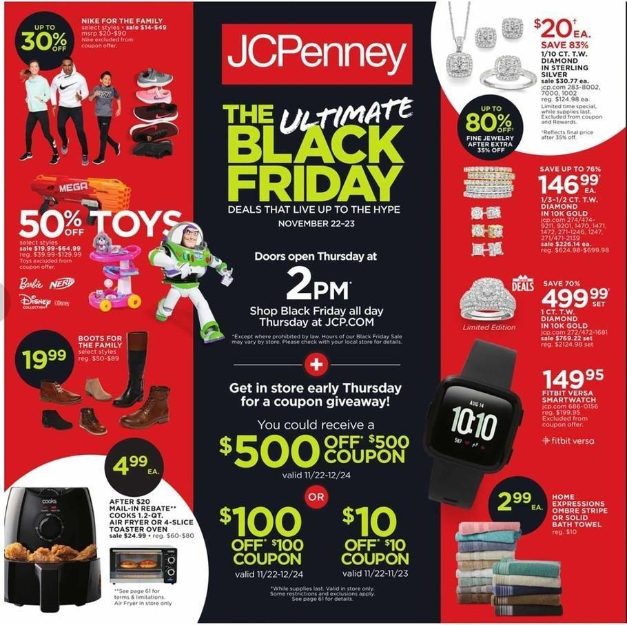 JCPenney 2018 Black Friday Ad Page 1