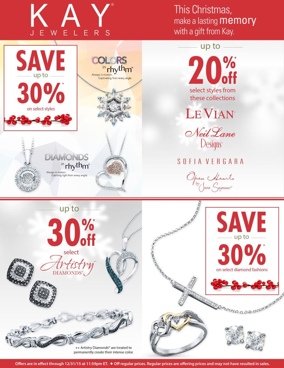 Kay Jewelers 2015 Black Friday Ad Page 1