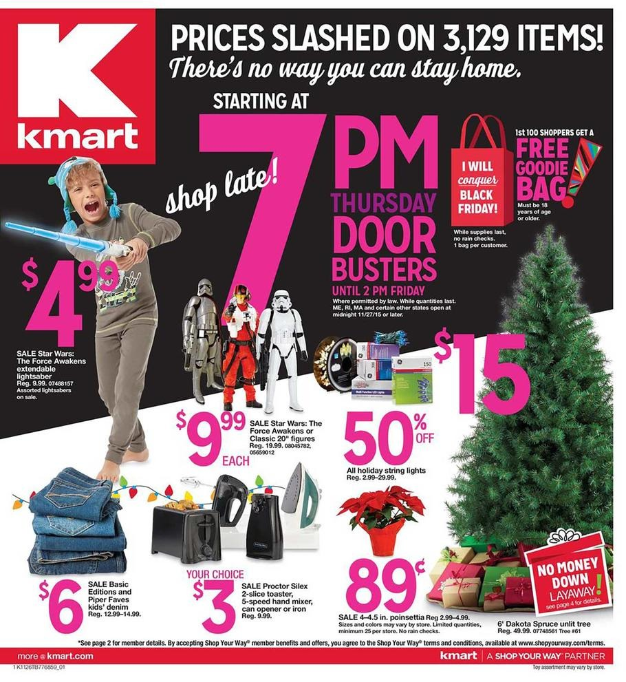 Kmart 2015 Black Friday Ad Page 1
