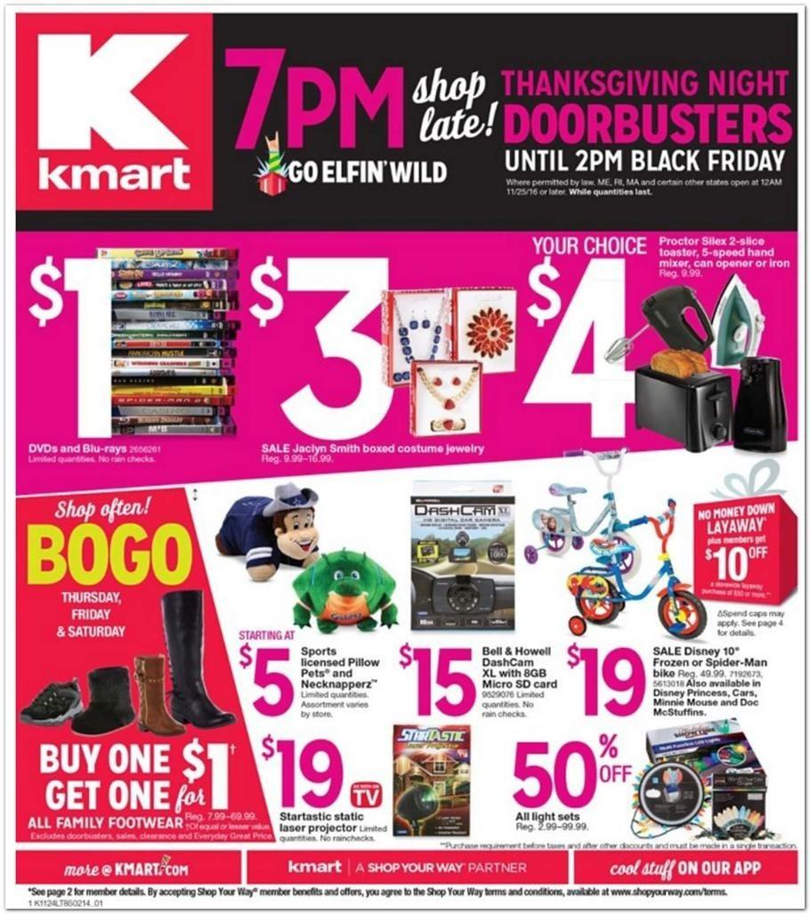 Kmart 2016 Black Friday Ad Page 1