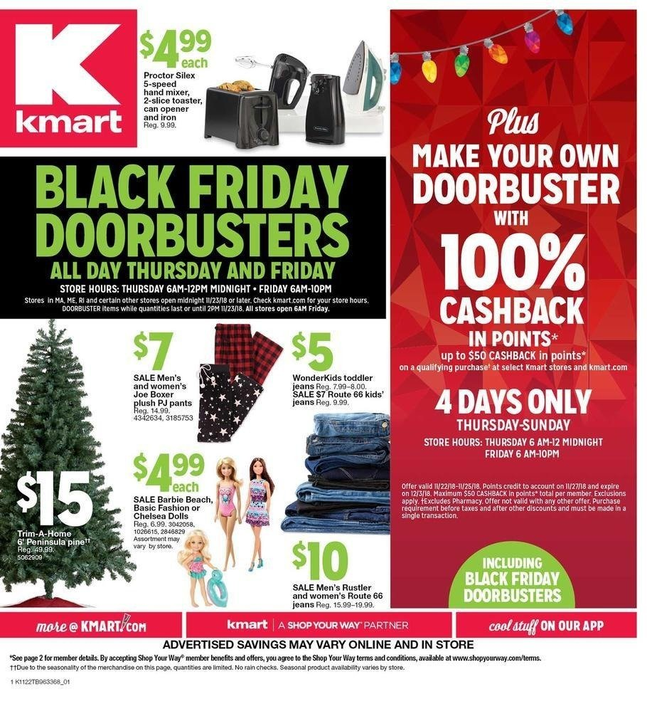 Kmart 2018 Black Friday Ad Page 1
