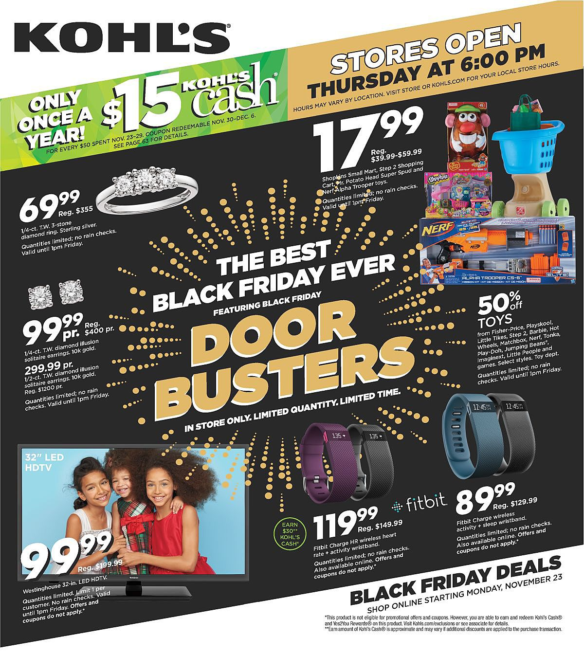 Kohl's 2015 Black Friday Ad Page 1
