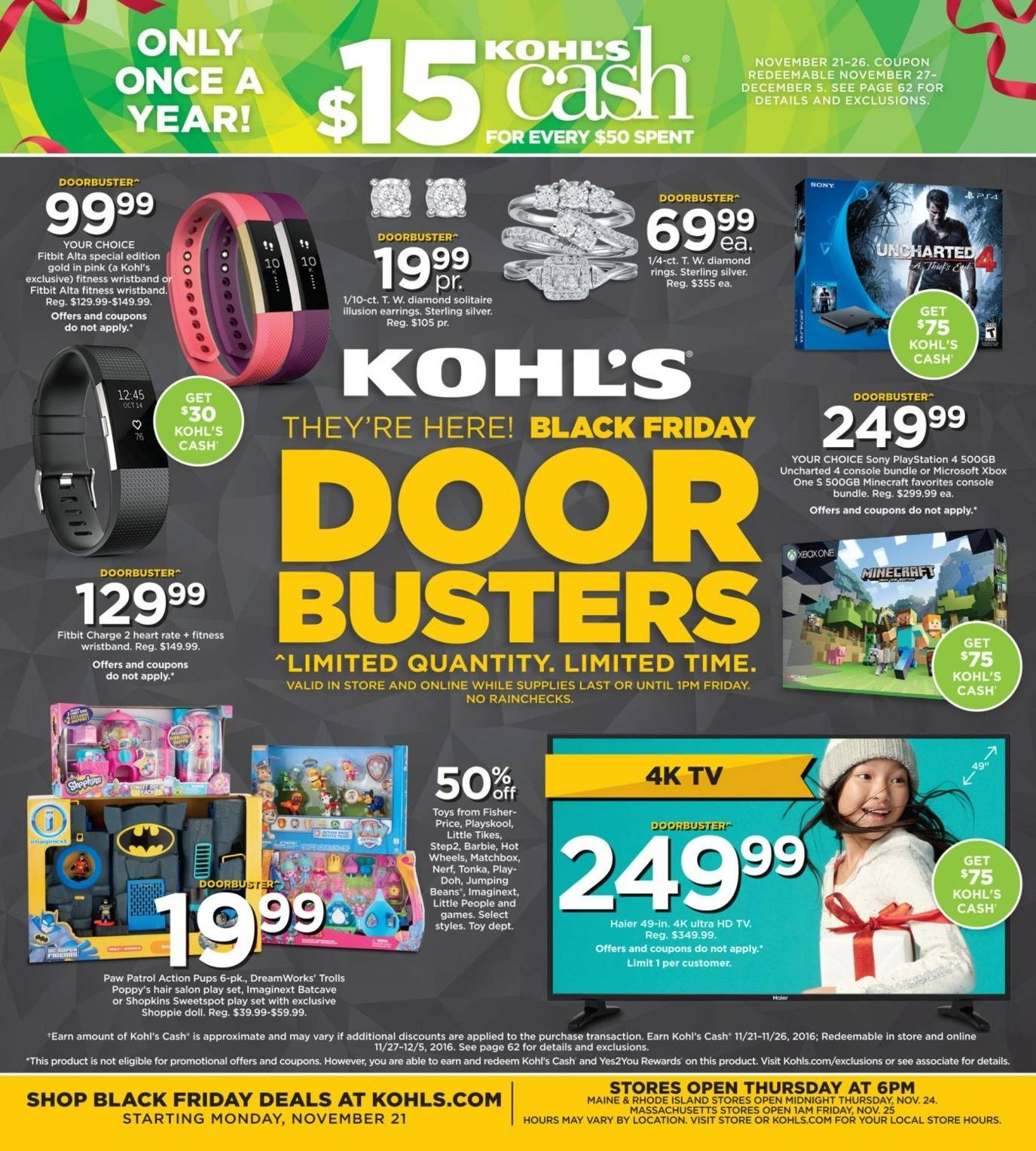 Kohl's 2016 Black Friday Ad Page 1