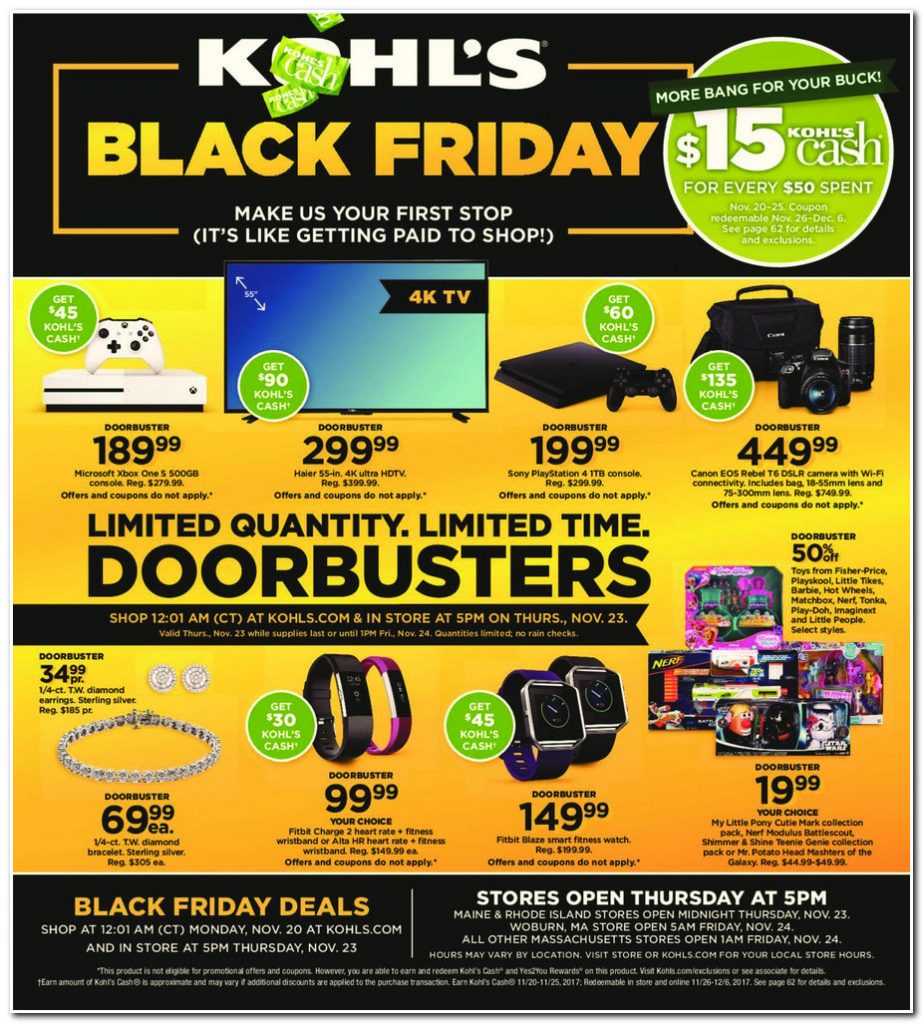 Kohl's 2017 Black Friday Ad Page 1