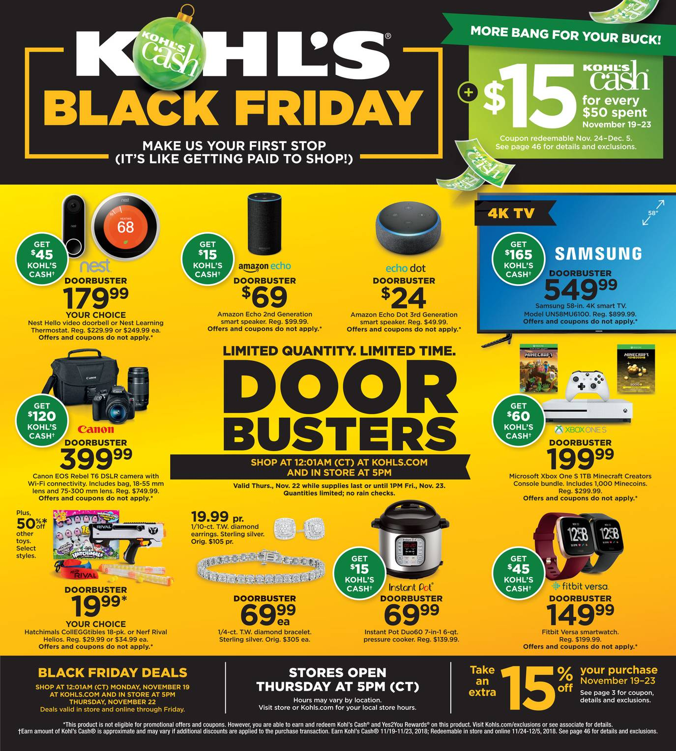 Kohl's 2018 Black Friday Ad Page 1