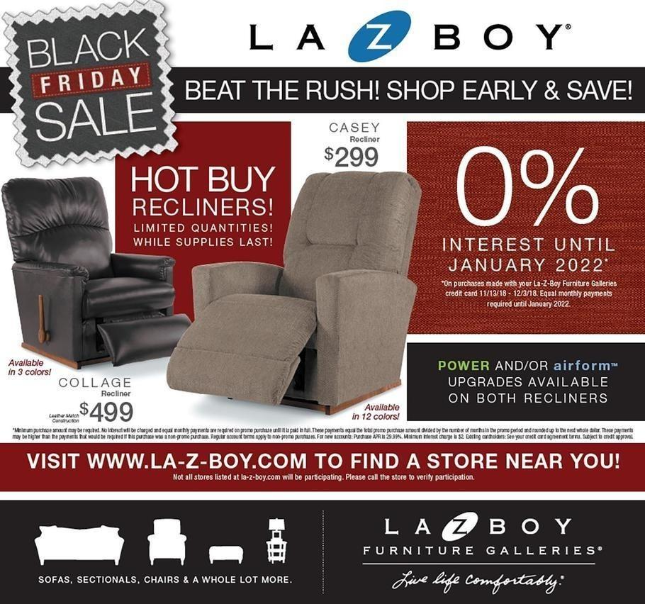 La-Z-Boy 2018 Black Friday Ad Page 1