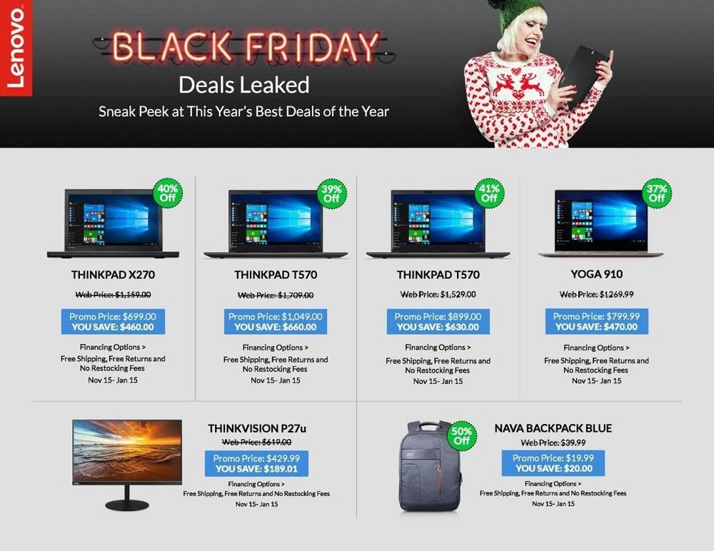Lenovo 2017 Black Friday Ad Page 1